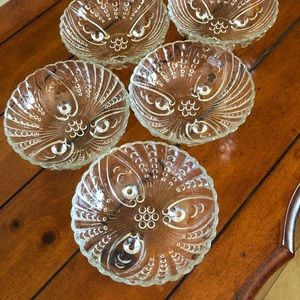 Other - Vintage Pressed Glass Hobnail & Swirl Bowls